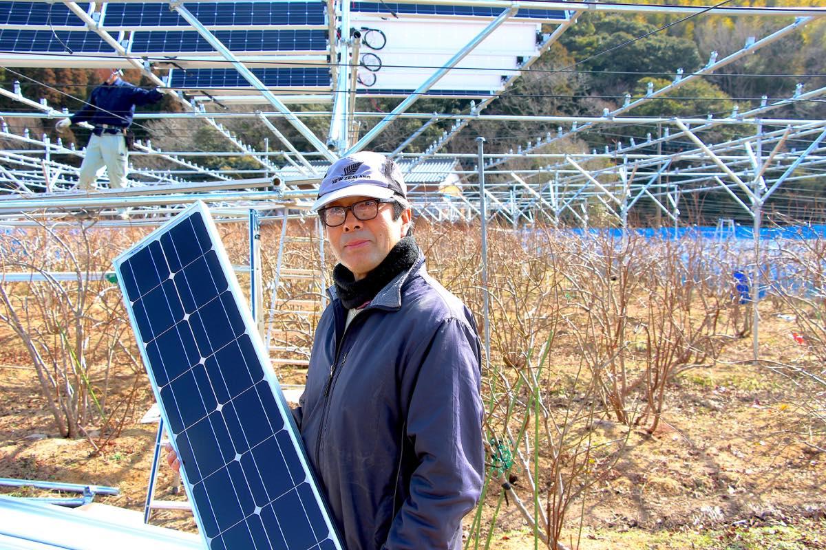 いすみ市のブルーベリー農園の農園主、藤江信一郎さん