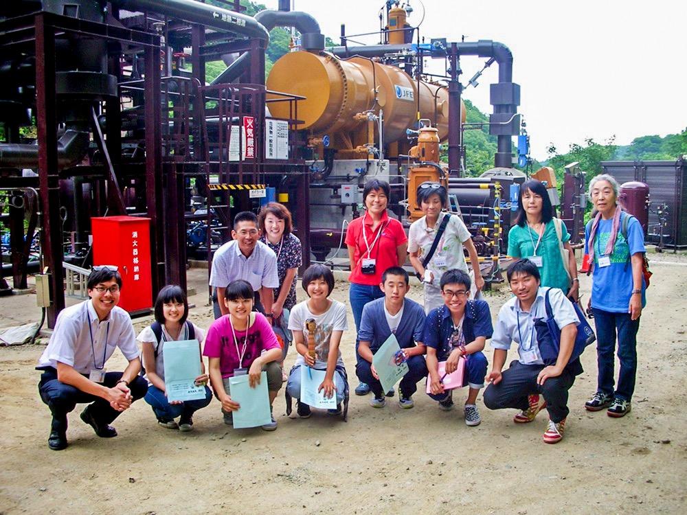 土湯温泉(小水力発電・地熱発電)見学(7月)
