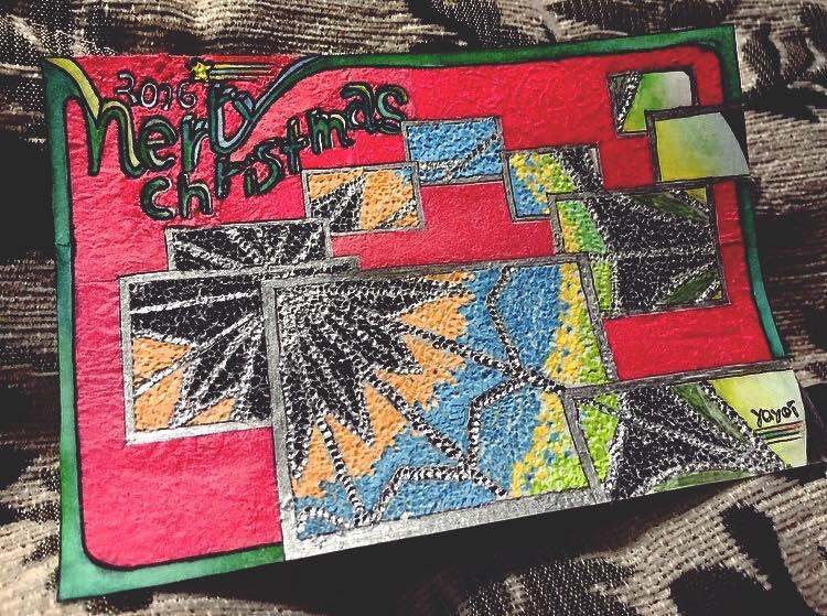 カルーナの元入居者がデザインしたクリスマスカード(2016年)