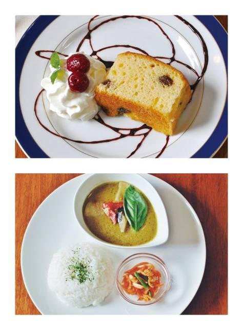 上:パウンドケーキの種類はイチジクや栗、チョコレートなどなど、日替わりです。フェアトレードコーヒーとセットでどうぞ。